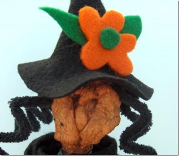 Hazel the Halloween Witch Apple Head Doll