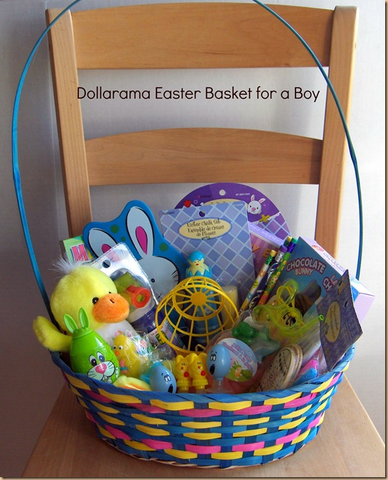 Put together a fantastic easter basket for kids at dollarama for bas1boy negle Choice Image